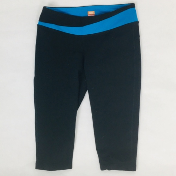 Lucy Pants - Lucy Lucypower Black/ Blue Capri/Cropped Leggings